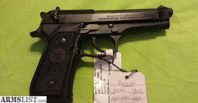 "For Sale: BERETTA 92FS 92 FS 9MM 4.9"" BLACK 2-15RD ITALY"