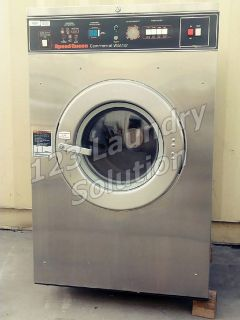 Coin Operated Speed Queen Front Load 27 lbs Washer 208-240v SC27MN2AU1​0001 Used