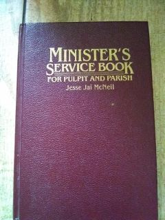 Minister's Service Book
