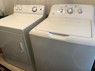GE washer and dryer.