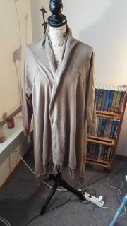 Lengthy taupe cardigan size 3x
