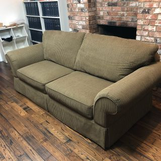 Olive Green Sofa - Delivery Available