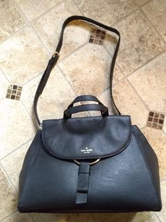 BNWT kate spade black pebbled leather bag