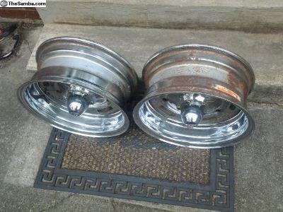 Nice Old Pair 14 By 6 Appliance/El Tigre VW Wheels