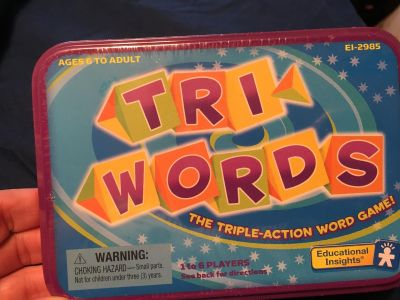 Tri Words. New and sealed. Looks easy. Family fun game night .. teachers - stations activity