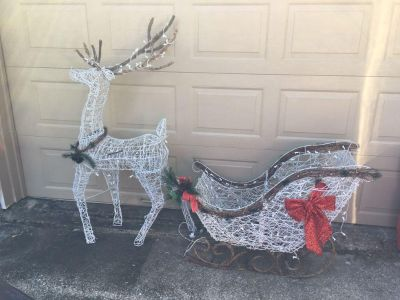Light Up Deer and Sled
