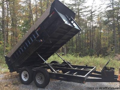 Black Exterior and Interior Griffin Dump Trailer