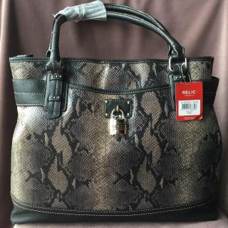 """Relic Brand """"Blair"""" Tote, Black, Brown & Grey - NEW w/ TAGS (18-186)"""