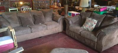 Ashley Microfiber Matching Couch and Loveseat