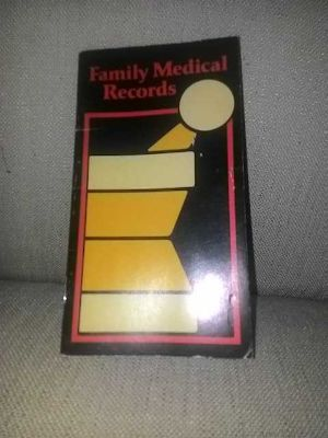 Family medical records book