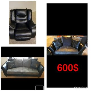 couch and love seat and chair