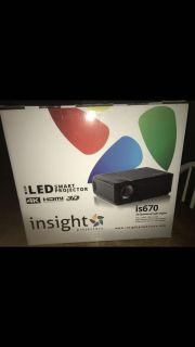 LED smart projector and 72 inch screen
