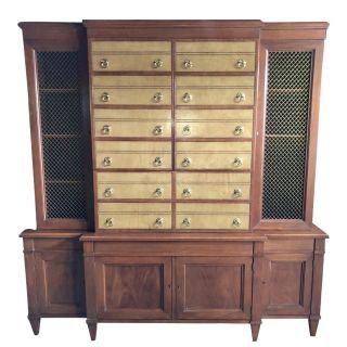 John Stuart Mahogany Library Cabinet