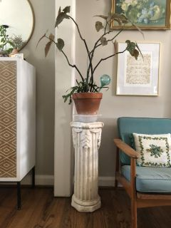 Plaster plant stand