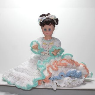 Vintage Doll with Crocheted Dress
