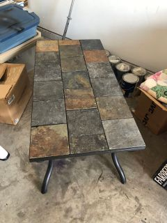 Slate coffee table & matching end table