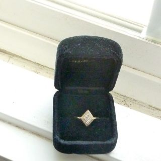 Antique 14K Diamond Ring 1930's