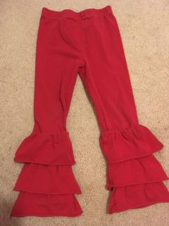 Sofia May Size XL (4T) Red Ruffle Pants