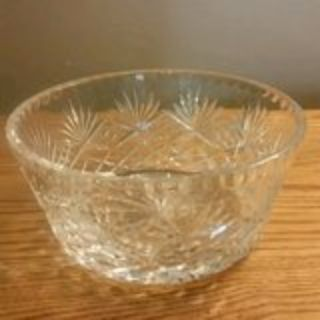 """7"""" COLLECTIBLE BRILLIANT CLEAR CUT CRYSTAL BOWL-DIAMOND & PINEAPPLE"""