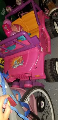 Barbie truck power wheel 2 seater