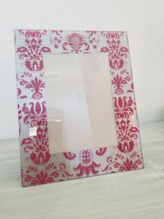 Beautiful damask picture frame