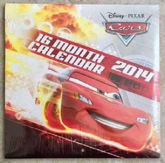 Walt Disney Pixar Cars Movies 16 Month 2014 Wall Calendar, NEW SEALED