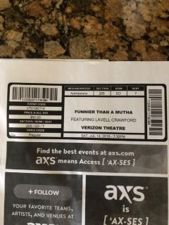 Lavell Crawford comedy tickets