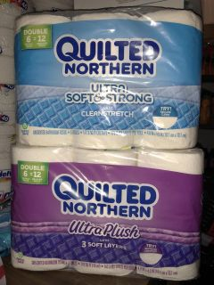 Quilted Northern toilet paper 6 roll