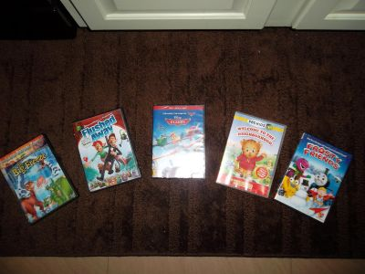 Frosty Friends, Daniel Tiger's Neighborhood, Planes (new in package), Flushed Away, Land Before Time - The Big Freeze