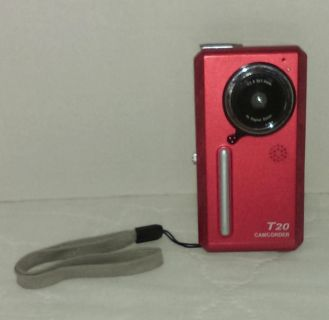 """Jazz T20 Digital Camcorder Flip Preview Video Camera w/1.5"""" Color Screen (Red)"""