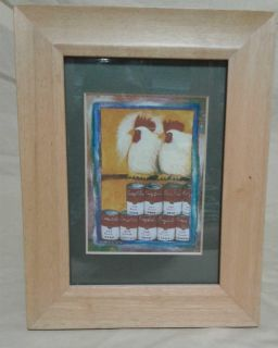 Framed chicken picture. 7 x 9. Meet in Angleton.