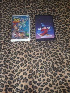 Toy Story and Fantasia VHS Movies