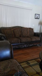 A sofa and a loveseat