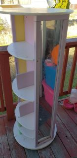 Tall wood dress up station with mirror...slide for more pics..need sold asap