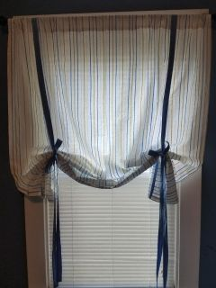 2 tie up curtains