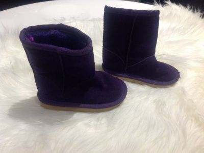 Toddler Girls Purple Boots 6