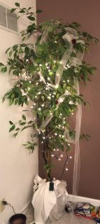 Artificial tree with lights