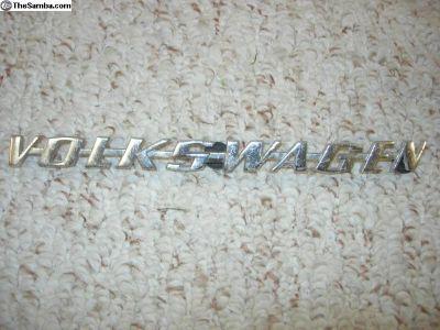 Emblem chrome Volkswagen original M-vc