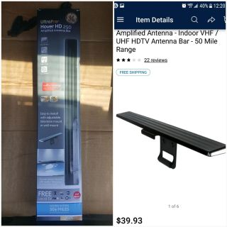 GE ultra pro hover hd 250 tv antenna 50 mile radius
