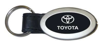 Buy Toyota Oval Black Leather Keychain / Key Fob Engraved in USA Genuine motorcycle in San Tan Valley, Arizona, US, for US $14.61