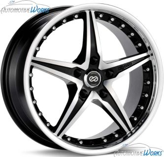 "Find 18x7.5 Enkei L-SR 5x110 +42mm Black Machined Rims Wheels Inch 18"" motorcycle in Roanoke, Texas, US, for US $899.99"