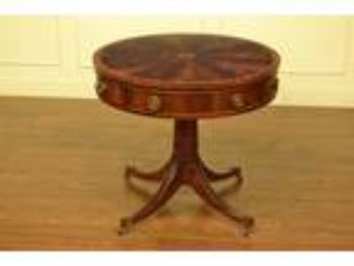 Hickory Chair Traditional Hepplewhite Mahogany Drum Table
