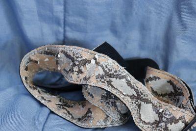 Snake skin guitar strap