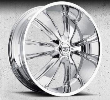 """Sell REV 955 Chrome 26"""" Wheels Chrysler Mopar Dodge 300 Challenger Charger SRT8 RT motorcycle in Riverside, California, US, for US $1,275.00"""