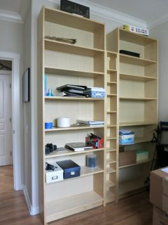 Bookcase shelf units