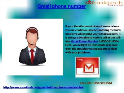 Dial Gmail Phone Number for the best possible solution 1-850-361-8504