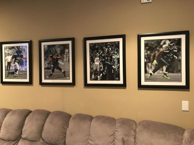 Seahawks Framed Pictures
