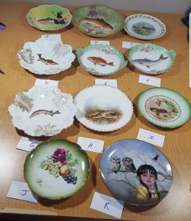 Fish themed home decor plates, price for all, will sell separately