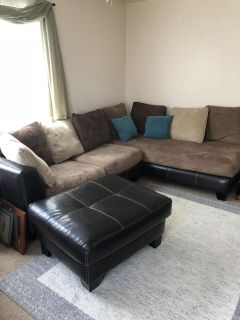 Comfy couch and ottoman $70