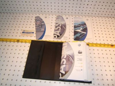 Find VW 2001 Passat Wagon Owner manual's OEM 1 Booklet with BLACK outer VW OEM 1 Case motorcycle in Rocklin, California, United States, for US $102.00